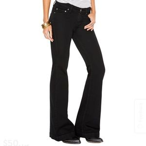 Free People Jeans - Free People high waist black flare jeans size 29